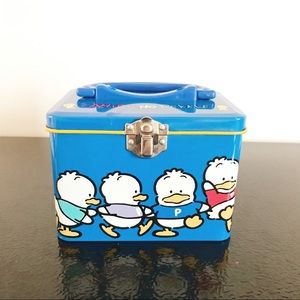 Sanrio Vintage Metal Tin Box Pekkle Container
